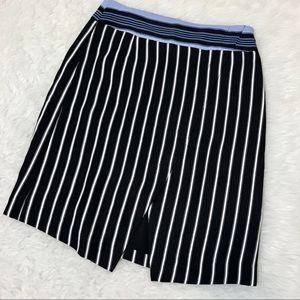 Loft striped tulip skirt. NWT
